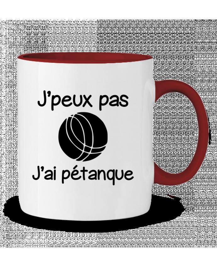 Mug en Céramique Bicolore J'peux pas j'ai pétanque Benichan