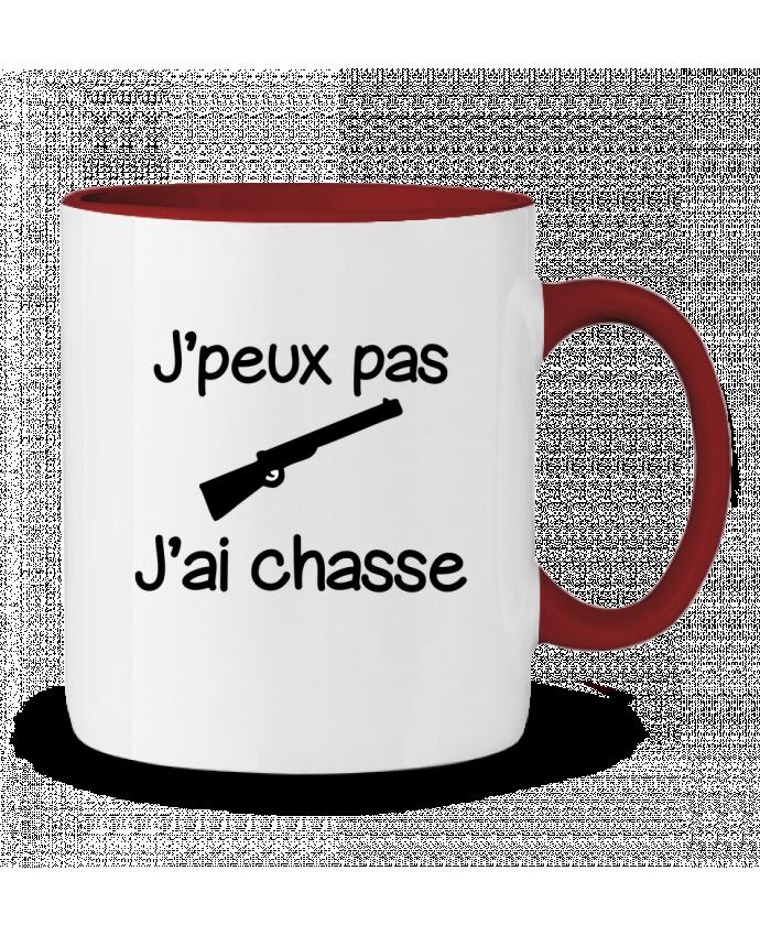 Mug en Céramique Bicolore J'peux pas j'ai chasse - Chasseur Benichan