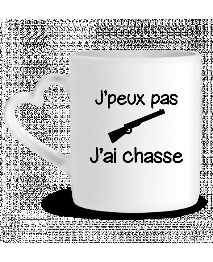 Mug Coeur J'peux pas j'ai chasse - Chasseur par Benichan