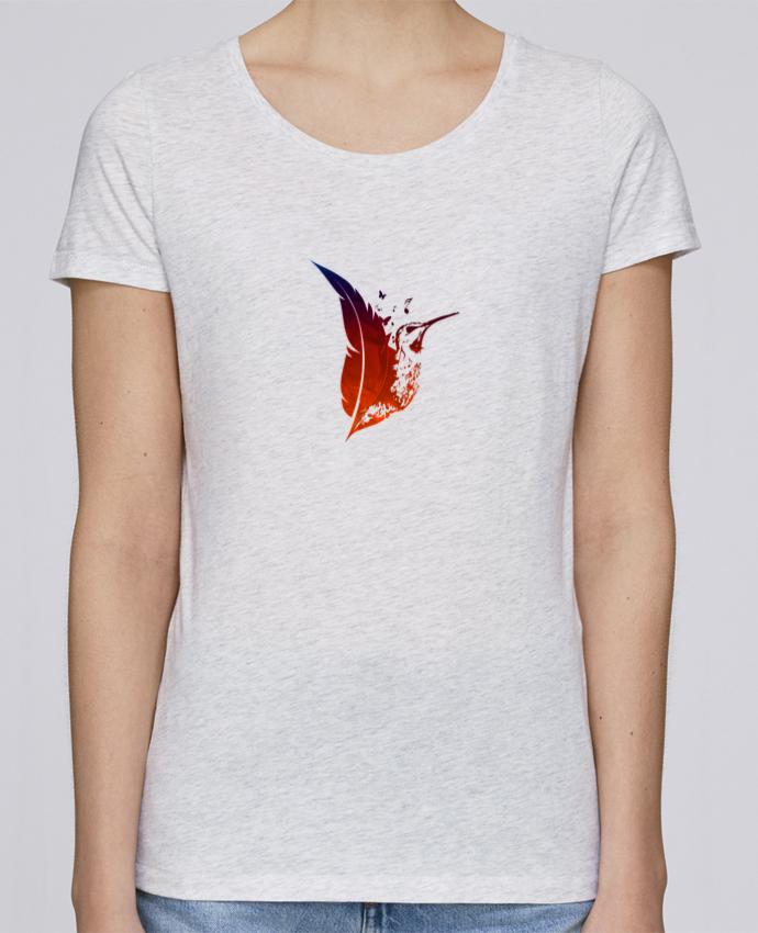 T-shirt Femme Stella Loves plume colibri par Studiolupi
