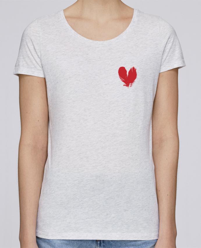 T-shirt Femme Stella Loves coeur de plumes par Studiolupi