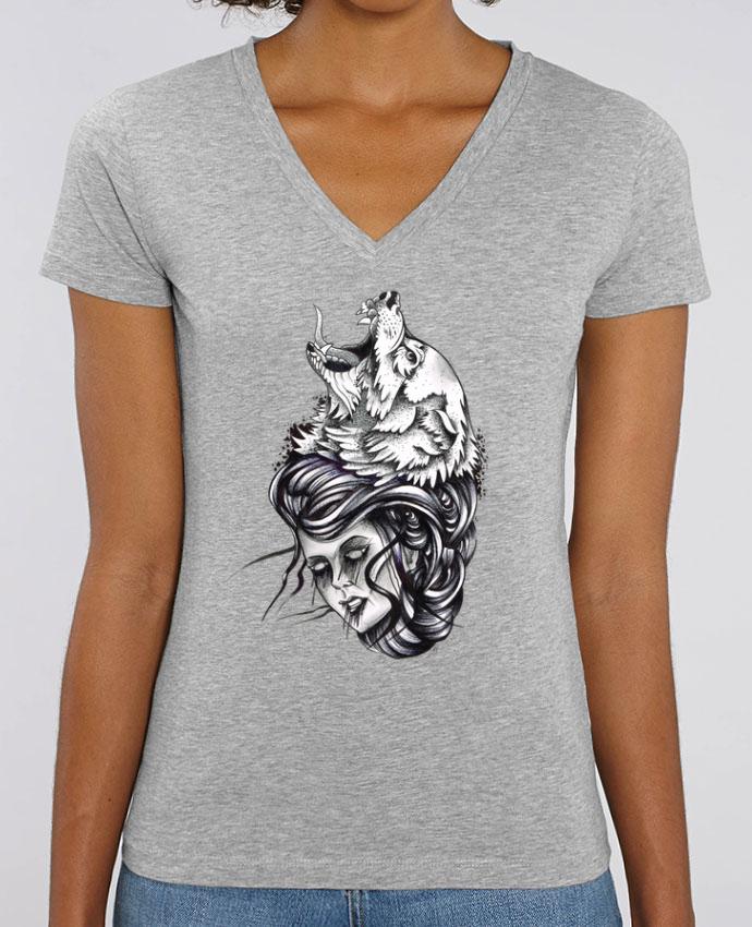 Tee-shirt femme Femme & Loup Par  david