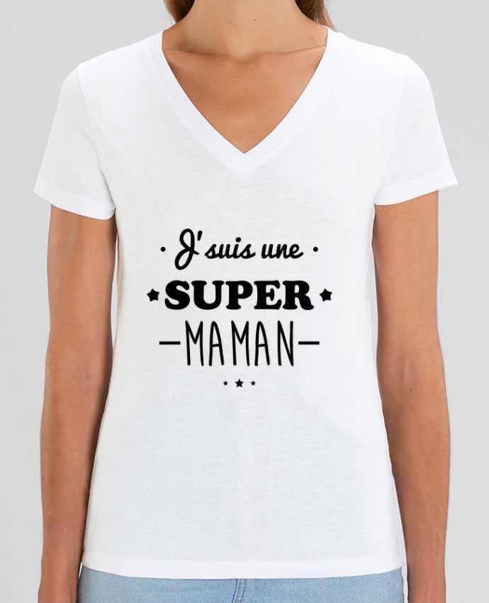 Tee-shirt femme J'suis une super maman, cadeau fête des mères Par  Benichan