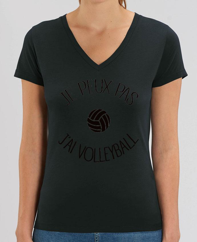 Tee-shirt femme Je peux pas j'ai volleyball Par  Freeyourshirt.com