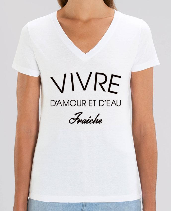 Tee-shirt femme Vivre d'amour et d'eau fraîche Par  Freeyourshirt.com