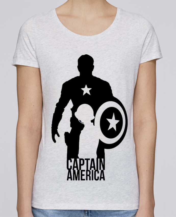 T-shirt Femme Stella Loves Captain america par Kazeshini
