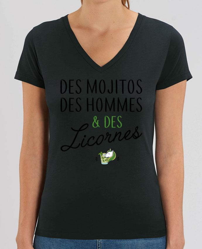Tee-shirt femme Des mojitos des hommes & des licornes Par  La boutique de Laura