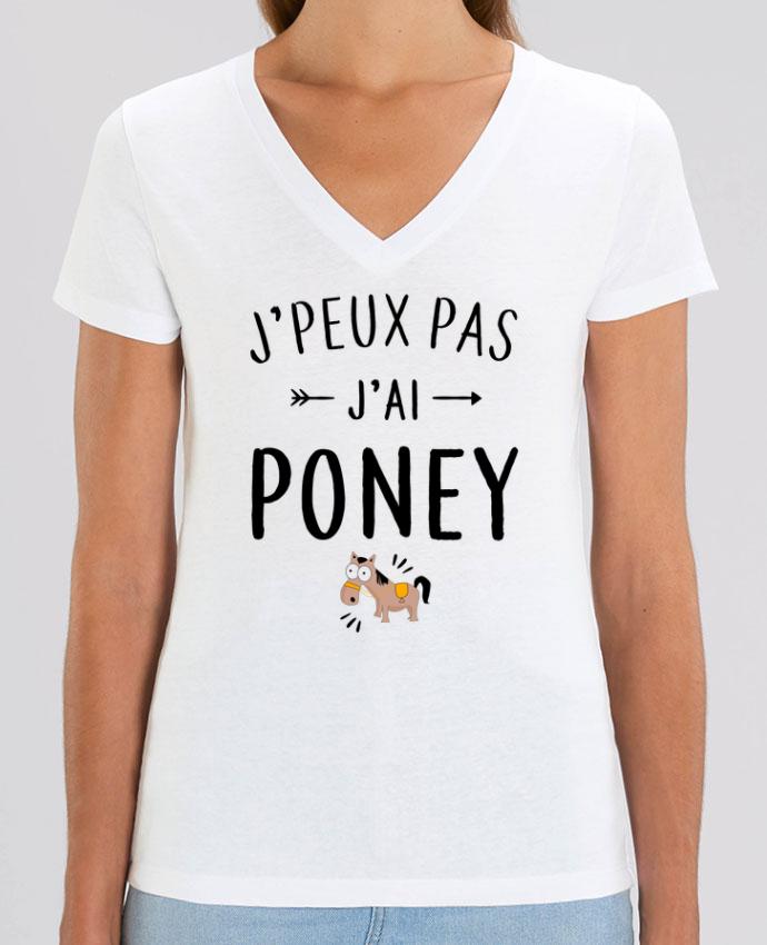 Tee-shirt femme J'peux pas j'ai poney Par  La boutique de Laura