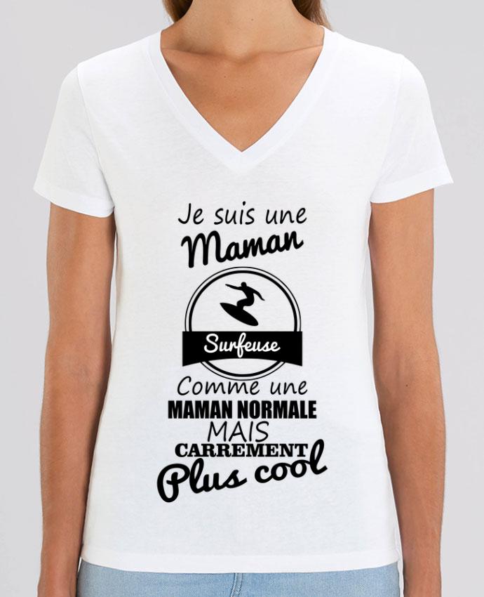 Tee-shirt femme Je suis une maman surfeuse comme une maman normale mais carrément plus cool Par  Ben