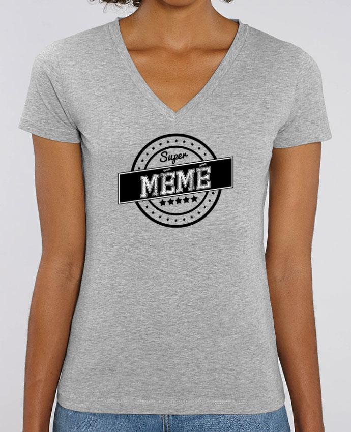 Tee-shirt femme Super mémé Par  justsayin