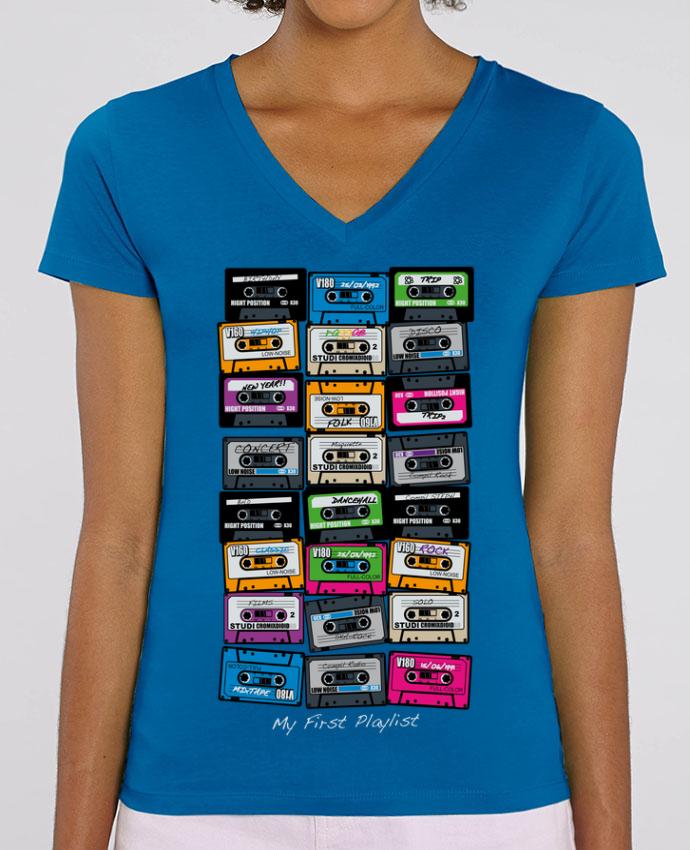 Tee-shirt femme My First Playlist Par  Rustic