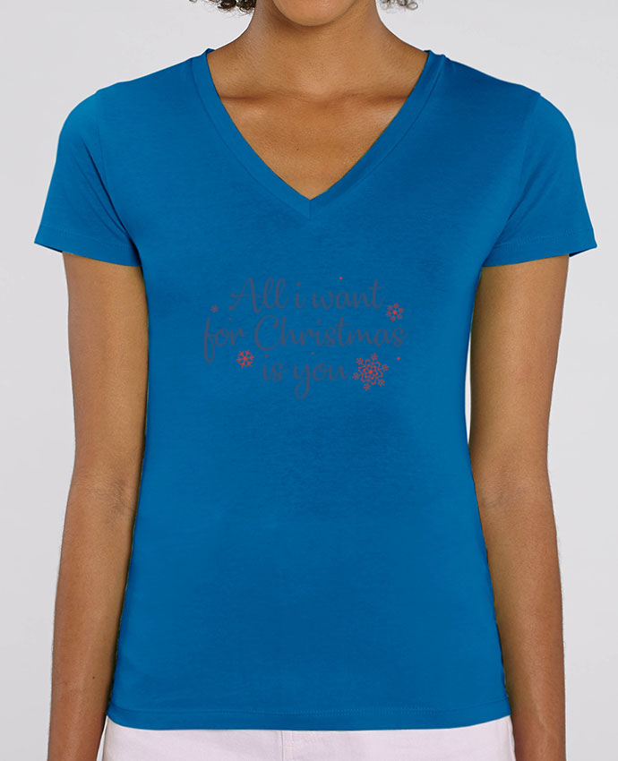 Tee-shirt femme All i want for christmas is you Par  Nana