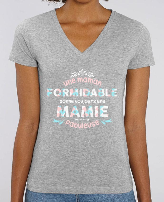 Tee-shirt femme maman formidable = mamie fabuleuse Par  tunetoo