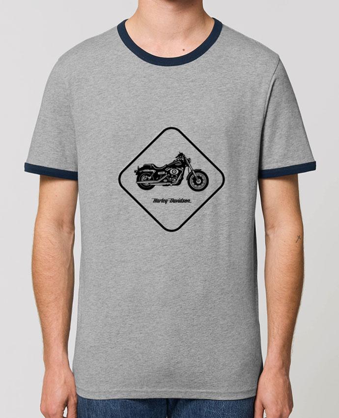 T-Shirt Contrasté Unisexe Stanley RINGER Harley Davidson parLikagraphe