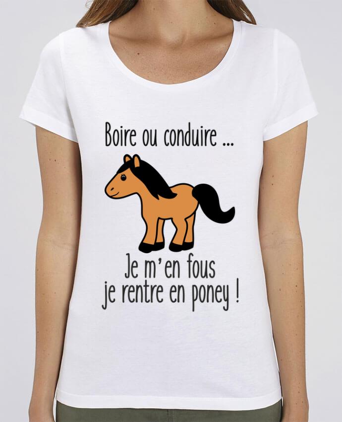 T-shirt Femme Boire ou conduire ... je m'en fous je rentre en poney par Benichan