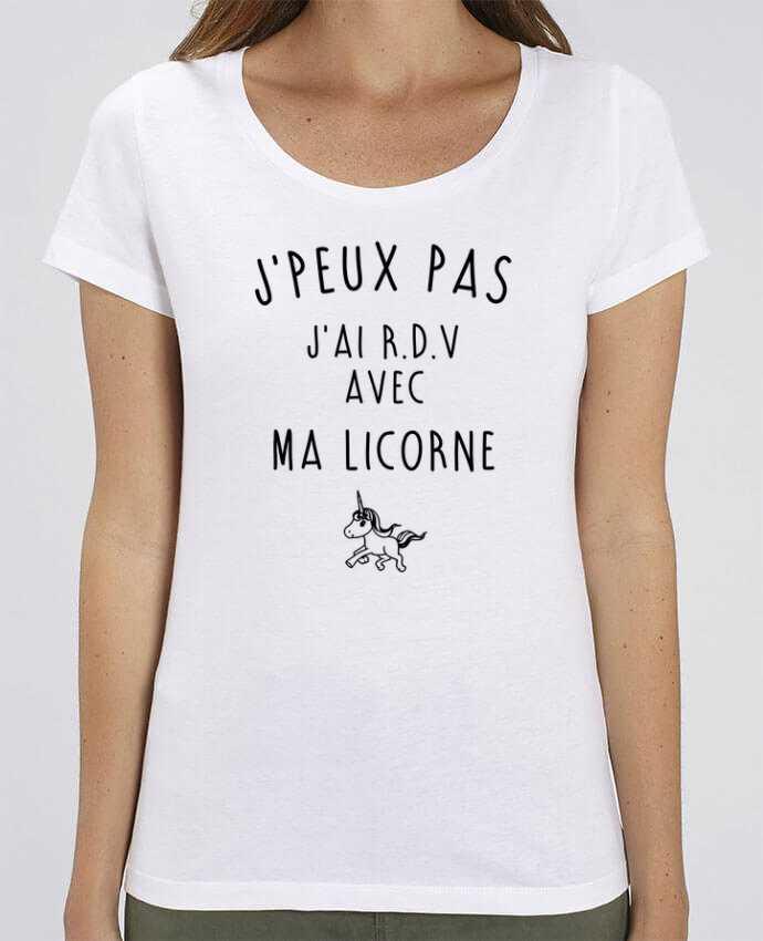 T-shirt Femme J'peux pas j'ai r.d.v avec ma licorne par La boutique de Laura