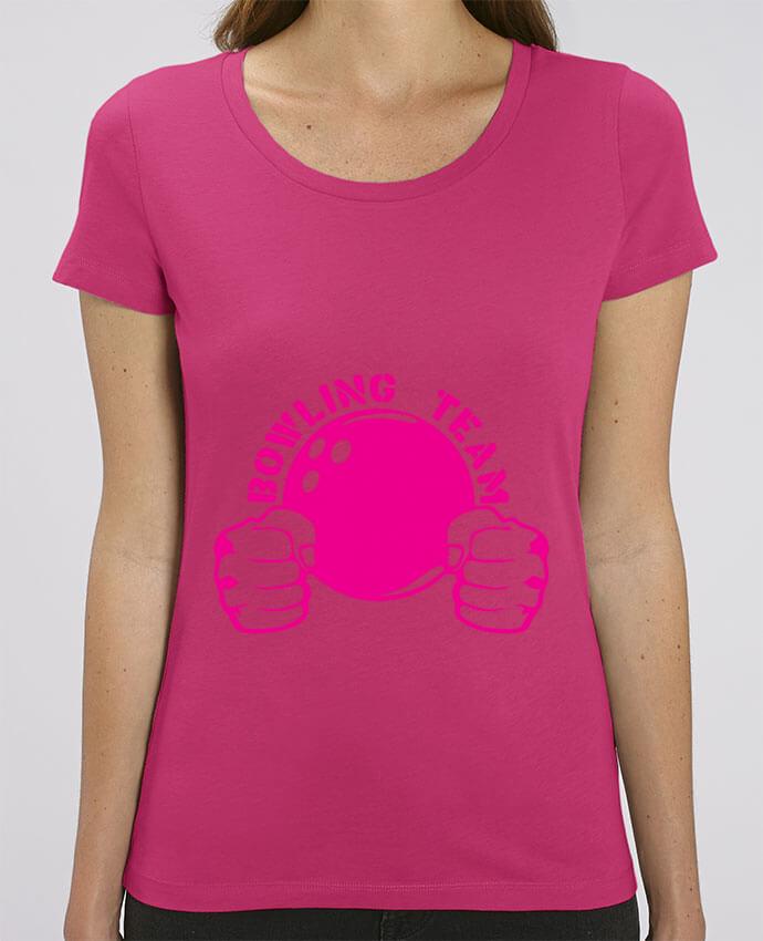 T-shirt Femme bowling team poing fermer logo club par Achille