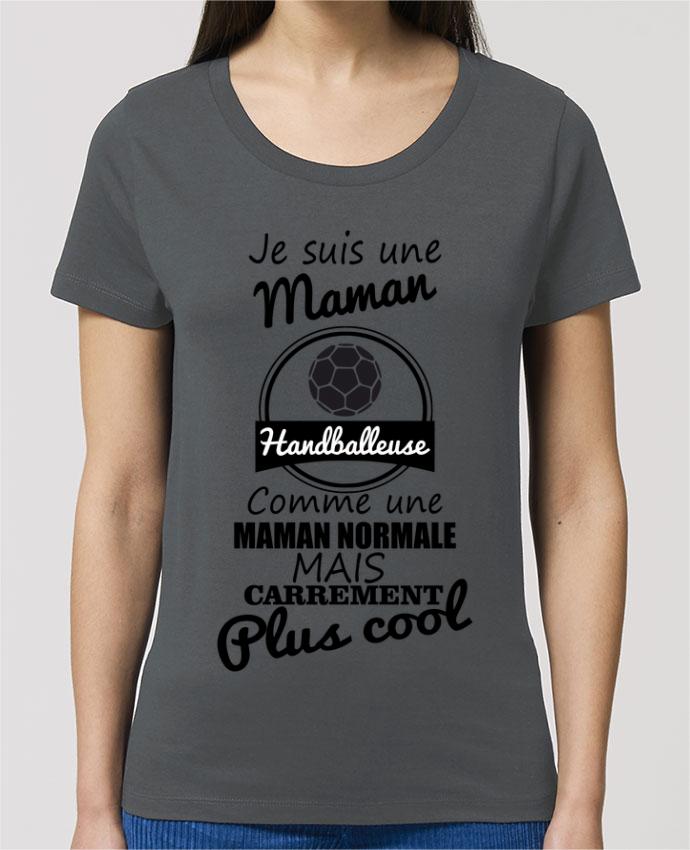 T-shirt Femme Je suis une maman handballeuse comme une maman normale mais carrément plus cool par Be