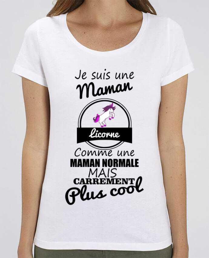 T-shirt Femme Je suis une maman licorne comme une maman normale mais carrément plus cool par Benicha