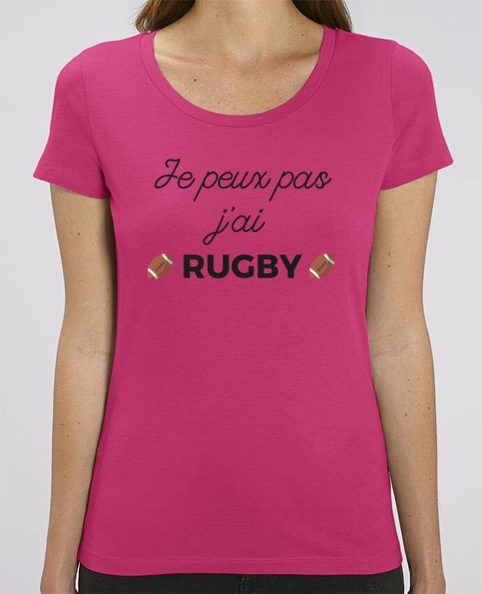 T-shirt Femme Je peux pas j'ai Rugby par Ruuud