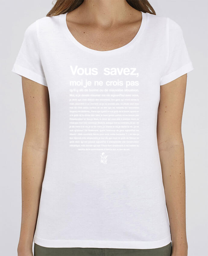 T-shirt Femme Citation Scribe Astérix par tunetoo