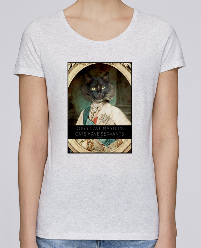 T-shirt Femme Stella Loves King Cat par Tchernobayle