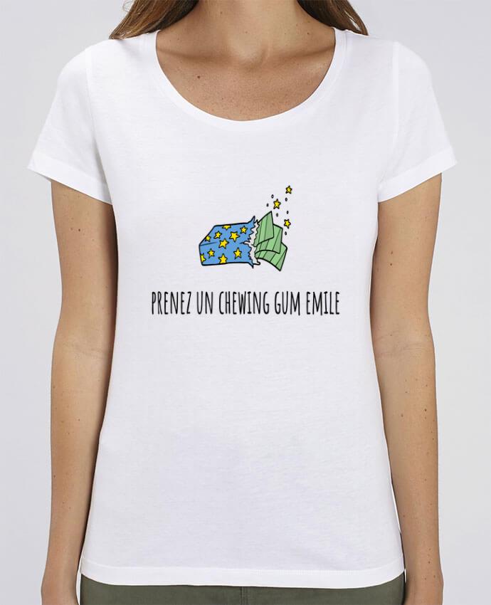T-shirt Femme Prenez un chewing gum Emile, citation film la cité de la peur. par Mlle Coco