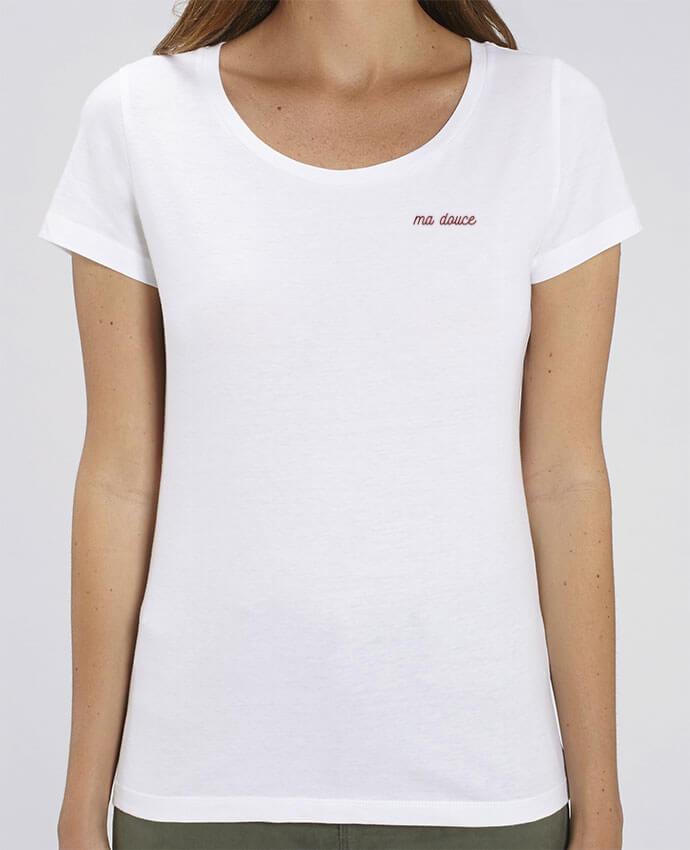 T-shirt femme brodé Ma douce par tunetoo