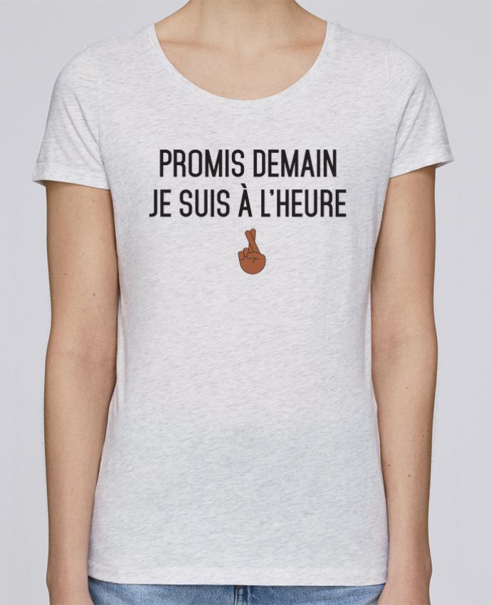 T-shirt Femme Stella Loves Promis demain je suis à l'heure - black version par tunetoo