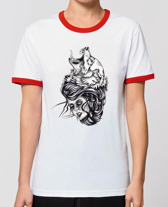 T-Shirt Contrasté Unisexe Stanley RINGER Femme & Loup pardavid