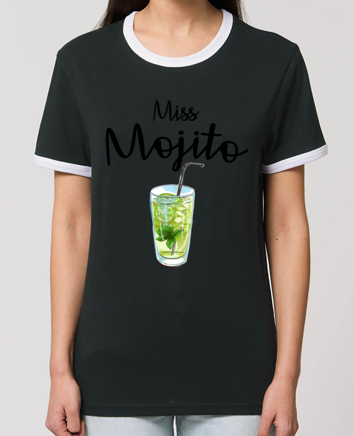 T-Shirt Contrasté Unisexe Stanley RINGER Miss Mojito parFRENCHUP-MAYO
