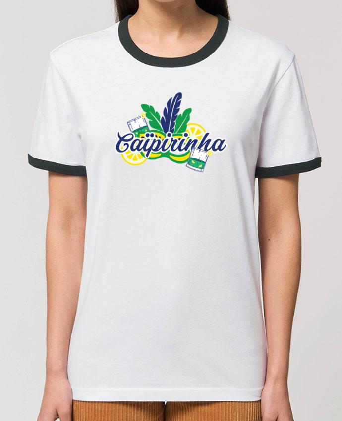 T-Shirt Contrasté Unisexe Stanley RINGER Caïpirinha Cocktail Summer partunetoo