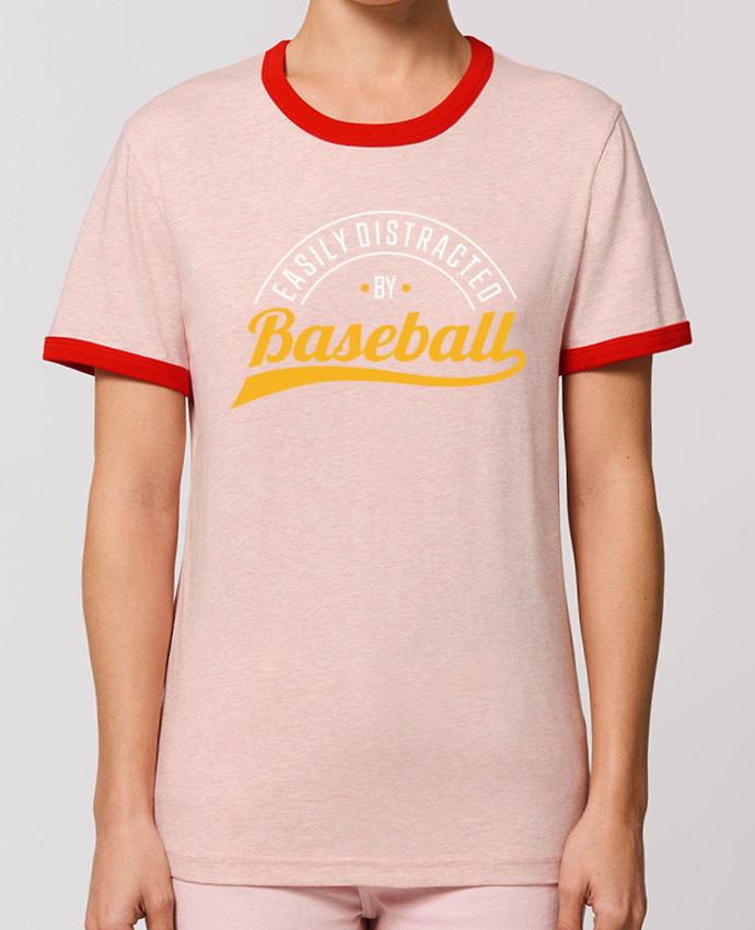 T-Shirt Contrasté Unisexe Stanley RINGER Distracted by Baseball parOriginal t-shirt