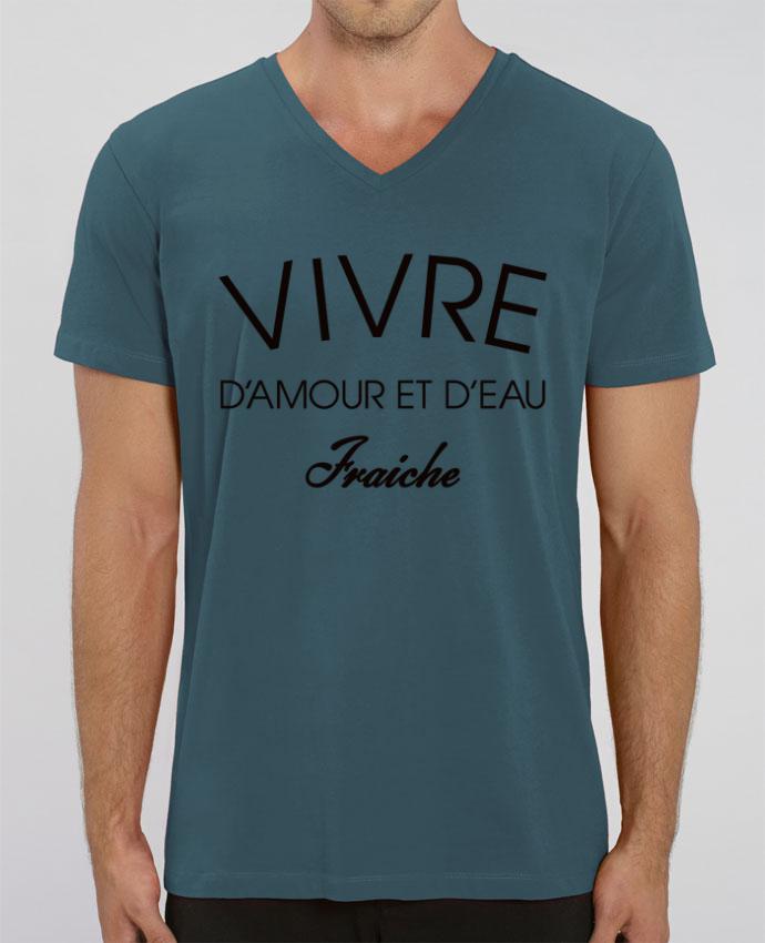 T-shirt homme Vivre d'amour et d'eau fraîche par Freeyourshirt.com