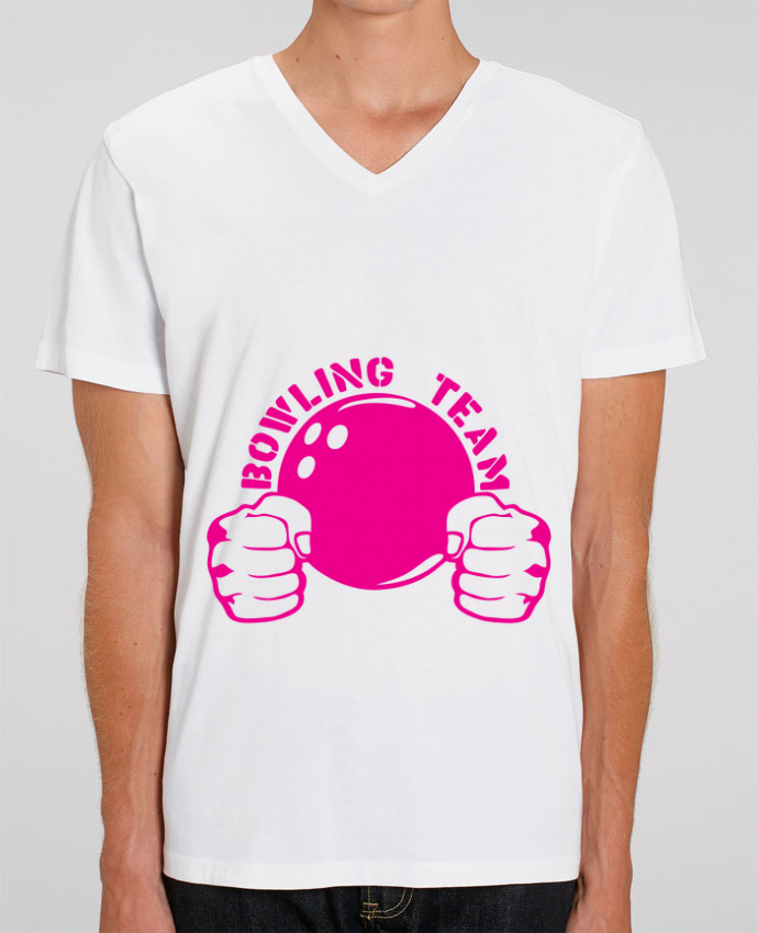 T-shirt homme bowling team poing fermer logo club par Achille