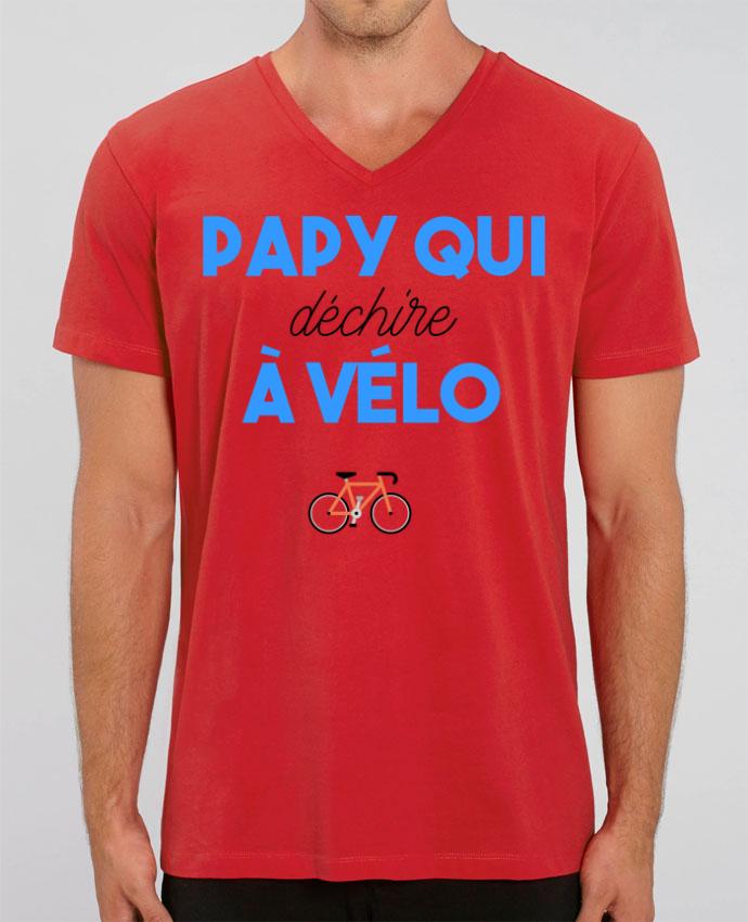 T-shirt homme Papy qui déchire à Vélo par tunetoo
