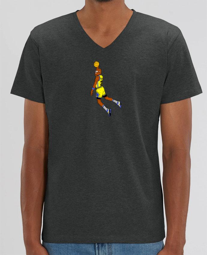 Tee Shirt Homme Col V Stanley PRESENTER Jordan Wolf par Nick cocozza