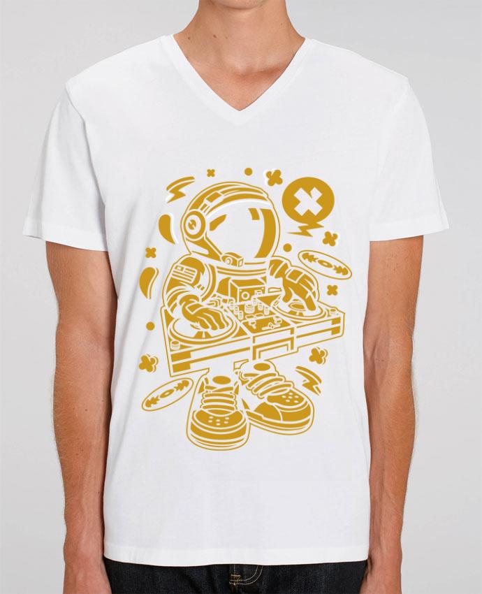 T-shirt homme Dj Astronaute Golden Cartoon | By Kap Atelier Cartoon par Kap Atelier