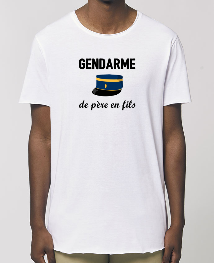 Tee-shirt Homme Gendarme de père en fils Par  tunetoo