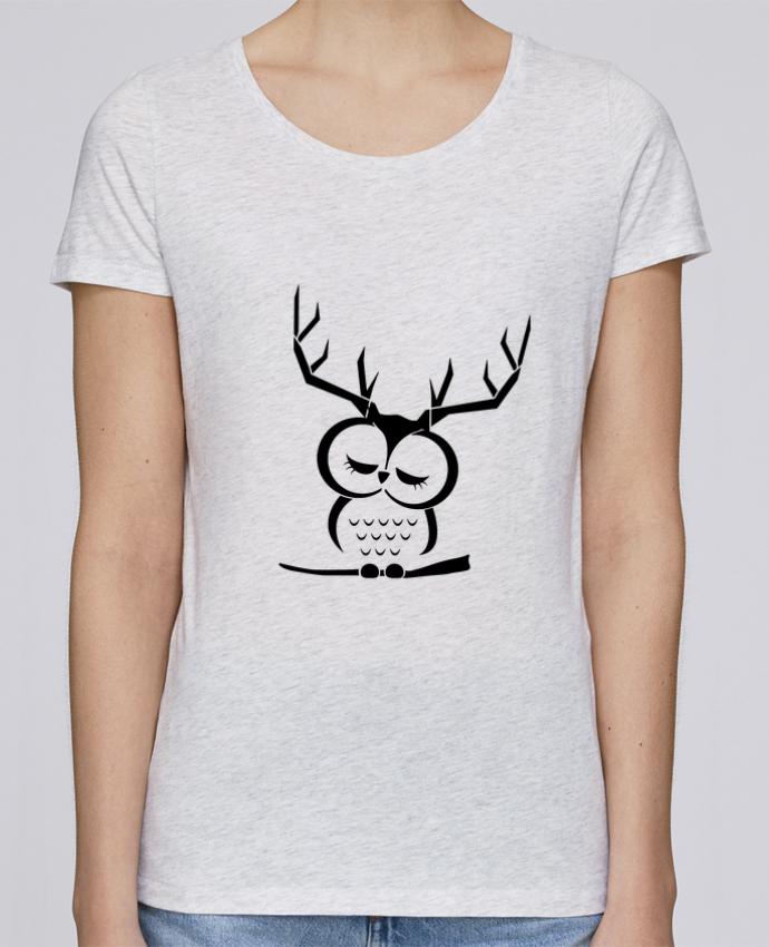 T-shirt Femme Stella Loves Hibou cerf par Ikare
