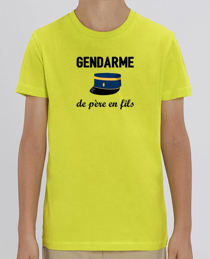 T-shirt Enfant Gendarme de père en fils Par tunetoo