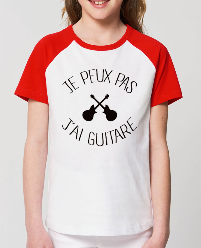 Tee-shirt Enfant Je peux pas j'ai guitare Par Freeyourshirt.com
