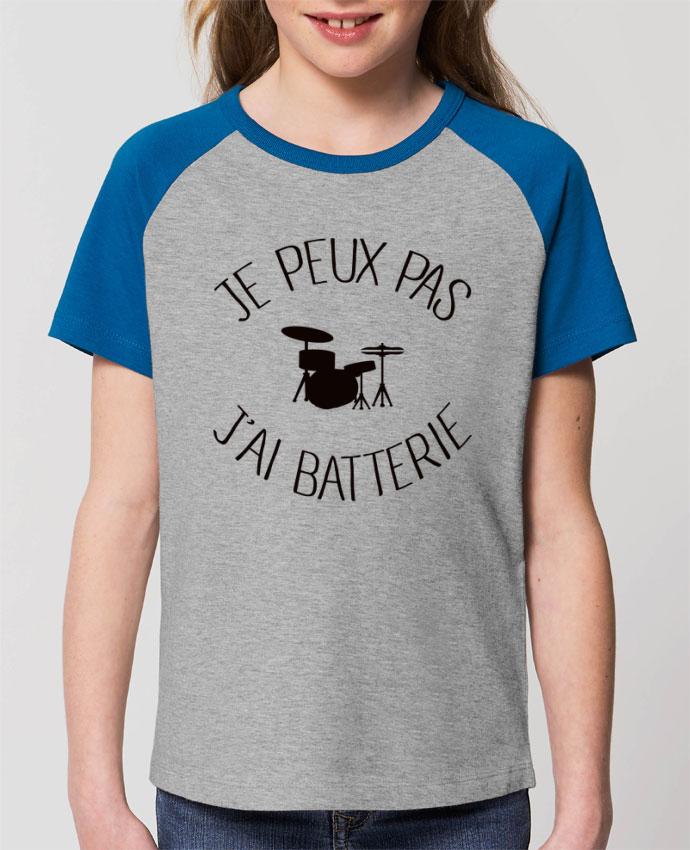 Tee-shirt Enfant Je peux pas j'ai batterie Par Freeyourshirt.com