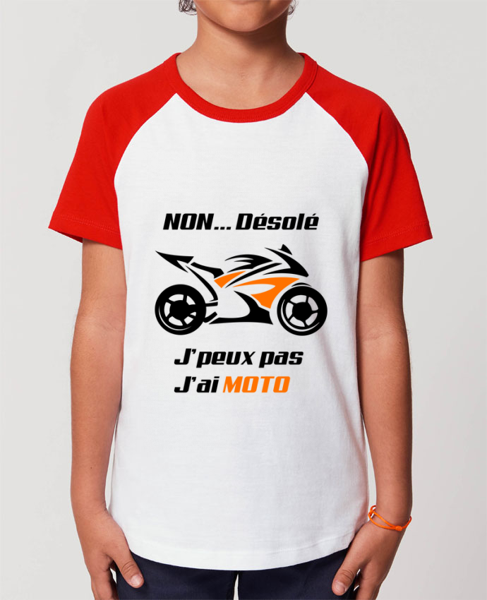 Tee-shirt Enfant J'peux pas j'ai moto Par MotorWave's