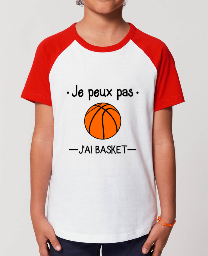 Tee-shirt Enfant Je peux pas j'ai basket,basketball,basket-ball Par Benichan
