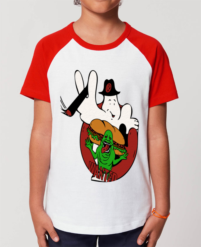 T-shirt Baseball Enfant- Coton - STANLEY MINI CATCHER The wanted Par David
