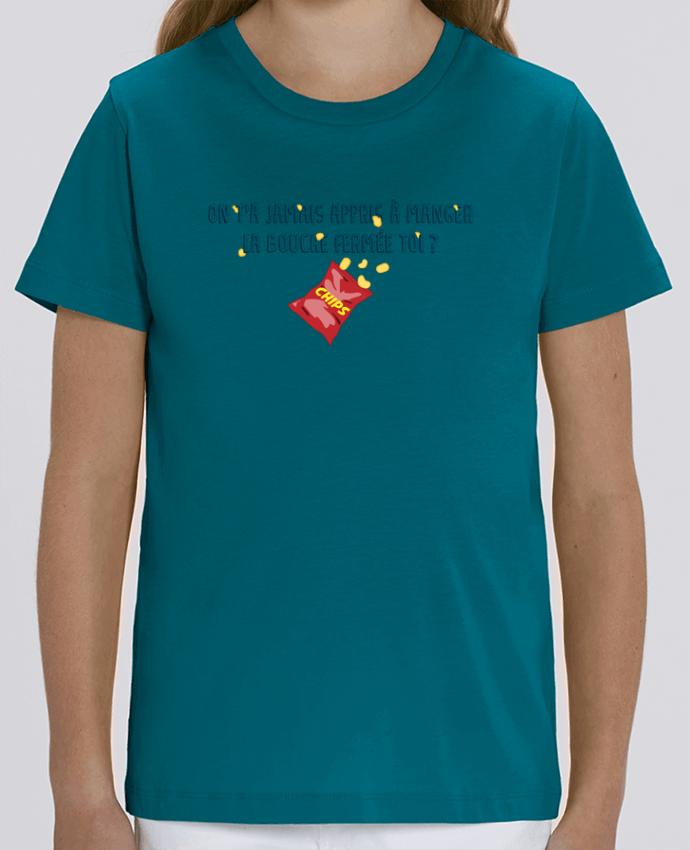 T-shirt Enfant Manger la bouche fermée Citation Dikkenek Par tunetoo