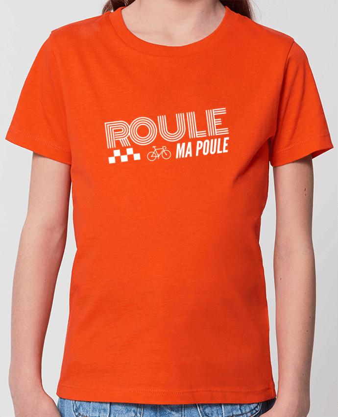 T-shirt Enfant Roule ma poule / blanc Par justsayin