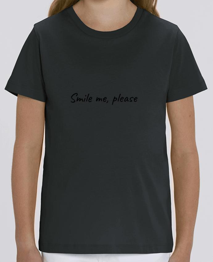 Tee Shirt Enfant Bio Stanley MINI CREATOR Smile me, please Par Lumineuzidees