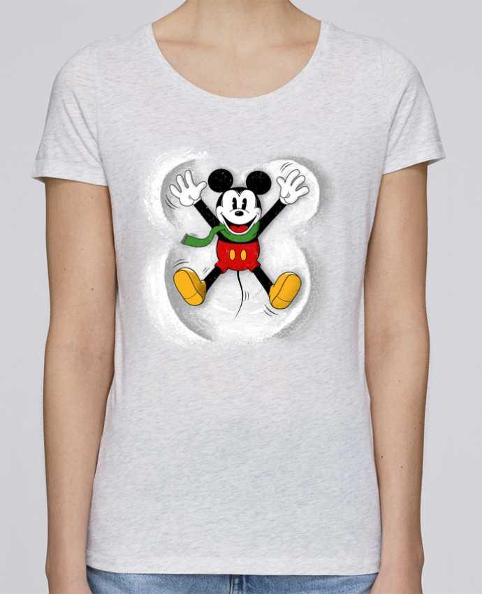 T-shirt Femme Stella Loves Mickey in snow par Florent Bodart